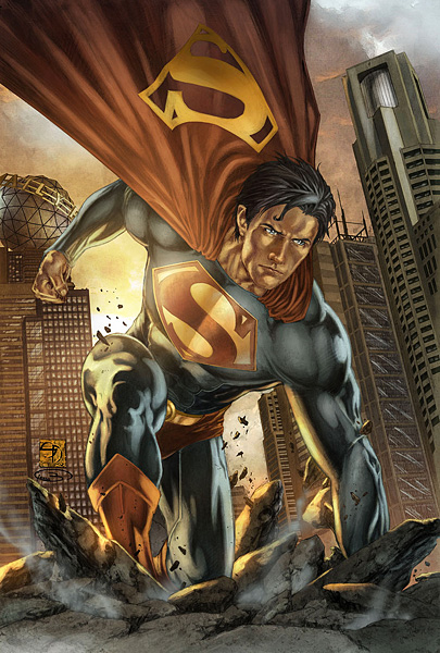 Superman-Earth-One-Action
