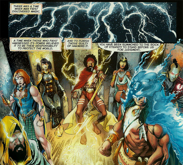 Circle of Eternity Entre les cases et les lignes de New 52 n°1