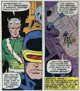 X-Men 45 panel