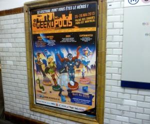 affiche metro