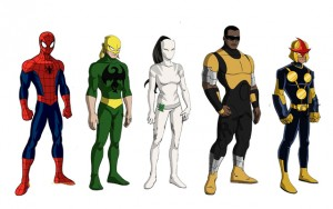 Spidey, Iron Fast, Tigre Blanc, Luke Cage, Nova