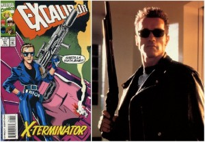 Excalibur #67, où quand Alan Davies imagine KAte Pryde en Terminator.