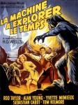 La Machine à explorer le temps, récit fondateur qui pose certaines des bases du genre, avec ici l'affiche de l'adaptation cinématographique du roman par George Pal en 1960.