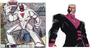 Nimrod, la redoutable Sentinelle originaire du futur de Days of Future Past et Bastion, son avatar humain.