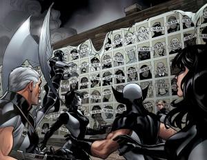 L'équipe d'X-Force dans un avenir sombre qui emprunte même à Days of Future Past le fameux poster reprenant les statuts des mutants.