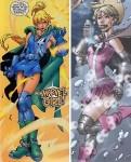 Valeria Richards, un personnage introduit par Chris Claremont dans Fantastic Four (à gauche) et réinventé dans Exiles (à droite).