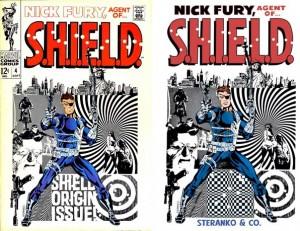 """Toi aussi joue au jeu des """"une différence"""" avec la couverture de Nick Fury: Agents of S.H.I.E.L.D. #4 et de sa reprise pour un TPB !"""