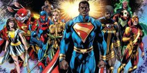Les hérs de Multiversity se rendant chez Urban Comics avec les résultats du sondage afin de montrer qu'il est temps de les sortir chez nous !